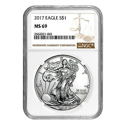 2017 $1 American Silver Eagle MS69 NGC