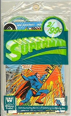 Action Comics #487 + DC Comics Presents #2 WHITMAN 2 PACK Sealed Unopened RARE!