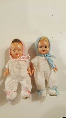 "Antique MQ Made Italy Celluloid Jointed Baby Doll Sleep Eyes 3"" Querzola MINT"