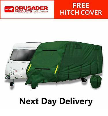 CoverPRO Premium 4 Ply Caravan Cover 12-14ft HD Breathable + Free Hitch Cover