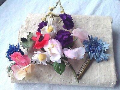 Vintage Flower Brooches 3 Corsage Bouquets French Vintage Wedding & Hat Flowers
