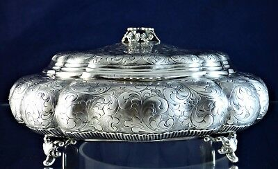 Gorgeous, Antique, Silver Biscuit Box, Milano 1930!!!