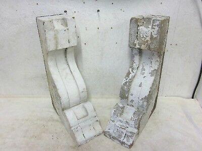 Two Antique Detailed Victorian Brackets Architectural Salvaged Corbels