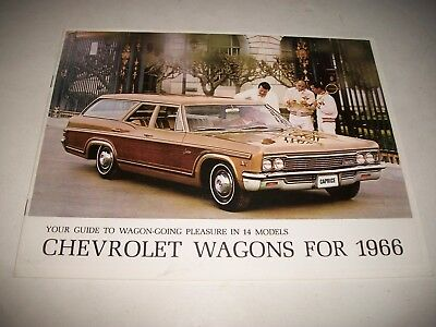 1966 Chevrolet Station Wagons Brochure Belair Biscayne Chevelle Chevy Ii Vans