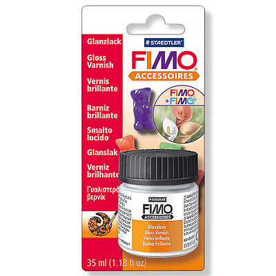 Staedtler Fimo Water Based Gloss Varnish 35ml Modelling Clay Accessories