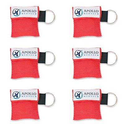 6 pack - Key Ring CPR Mask - Emergency Face Shield with One-way Valve