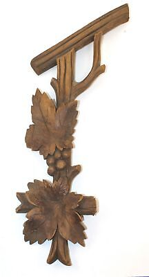 Vintage Wooden Grape Leaf Cuckoo Clock Case Decoration - Kc298