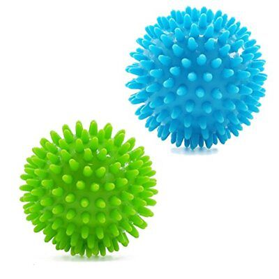 Spiky Muscle Roller Massage Balls: One hard and One Med-Firm Spike Massage Ball