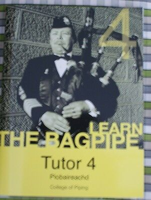 Learn piobaireachd tutor book 4 & CD Rom classical piping highland bagpipe pipe
