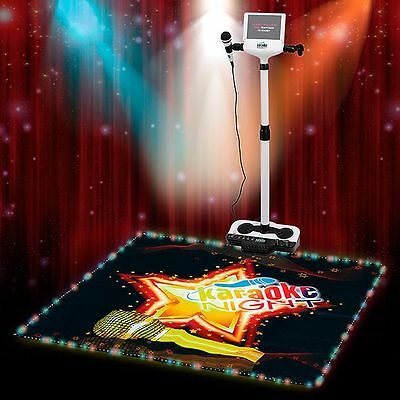 Karaoke Machine with Lighted Stage mat with Microphone SR