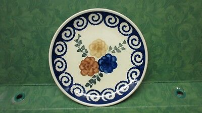 """Polish Pottery 7"""" plate handmade & painted in Poland"""