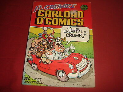 R. CRUMB'S CARLOAD O' COMICS Belier Press 1976 VF