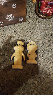 Pillsbury Doughboy Magnets, Poppin Fresh and Poppie pair, Plastic 1970s Vintage