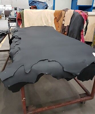 Black Oily Cow Hide Sides
