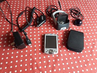 HP iPAQ H2200 with case, cradle, ACPlug,battery,  royaltek GPS with car adapter