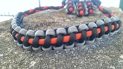 Archery Bow Sling 550 Paracord  Black gray red + 3 zipper pulls