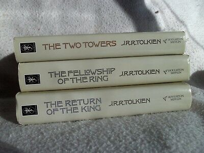 Lord Of The Rings Trilogy Hb Dj 1993 Two Towers Return Of The King Fellowship Of