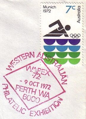 Pict.PMK on cover - 1972 WAPEX '72