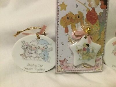 New Old Stock Vtg Precious Moments 1989 1993 Angel Girl Star Christmas Ornaments
