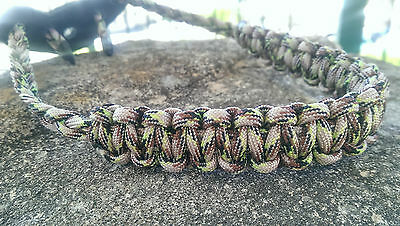 Archery Bow Sling 550 Paracord jungle camo  +3 zipper pulls
