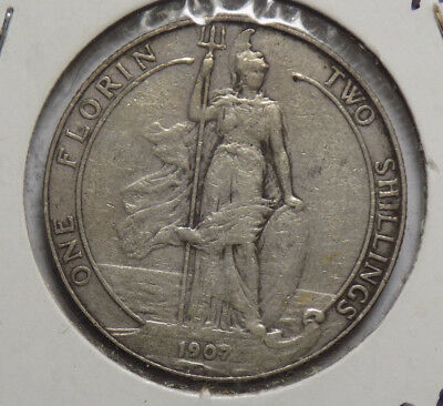 Great Britain 1907 2 Shillings Silver Coin