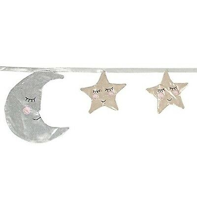Sass & Belle Moon and Stars Sleep Tight Bunting - 124cm long