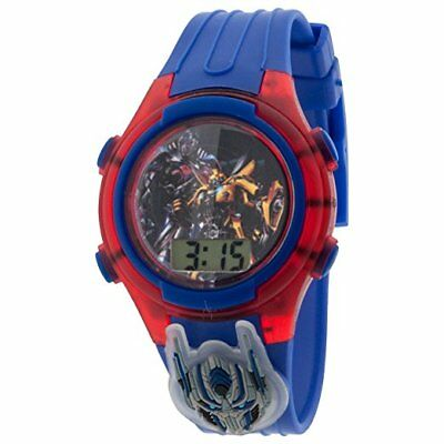 Transformers Optimus Prime LCD Kid's Watch w/ Flashing Dial & Light Up Icon New