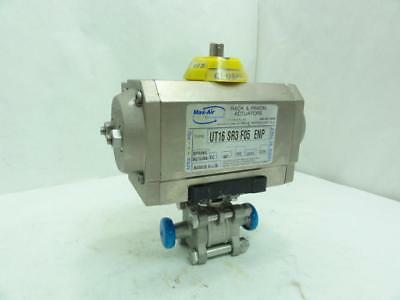 159058 Old-Stock, TCI 116016 Actuated Sanitary Valve, SS-316, Size: 1/2""
