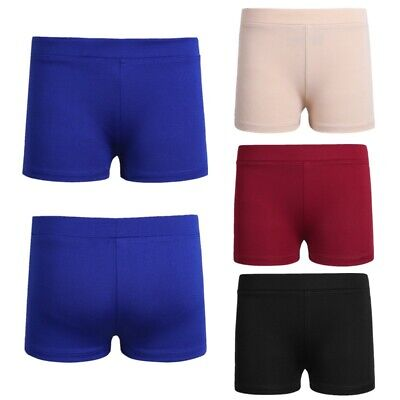 Girls Dance Shorts Booty Boy Cut Low Rise BEST FIT for Ballet Gymnastics 6 -12Y