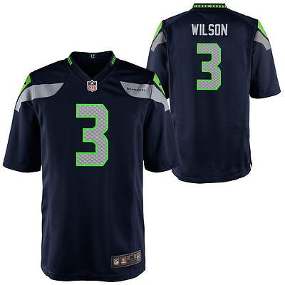 new product 4cb8a b05b9 NIKE BOYS' (4-7) Seattle Seahawks Russell Wilson #3 Home Game Jersey Size L  NWT