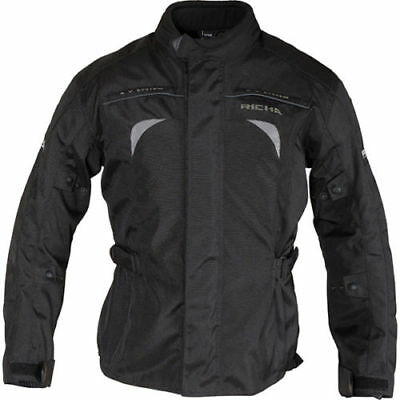Richa Bolt Textile Motorcycle CE Armoured Waterproof Breathable Jacket - Black