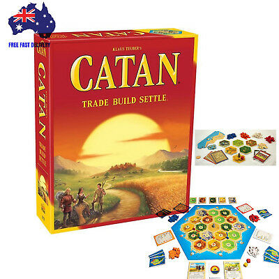 Settlers of Catan 5th edition Core Set  3-4 Player Family Board Game