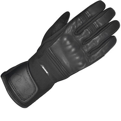 Oxford Calgary 1.0 Motorcycle Gloves Leather Waterproof Mens Touring Glove Black