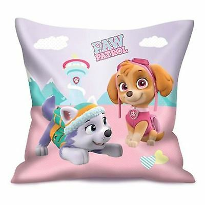Girls Kids Paw Patrol Skye Square Filled Cushion Childrens Pillow 34x34cm