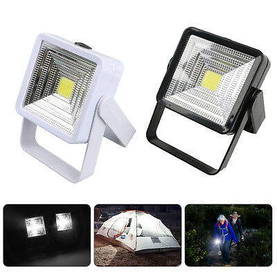 Bright COB Solar Power Rechargeable LED Camping Lantern Hiking Emergency Light