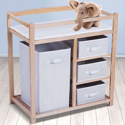 Baby Changing Table INFANTASTIC® Wooden Dresser Station Unit