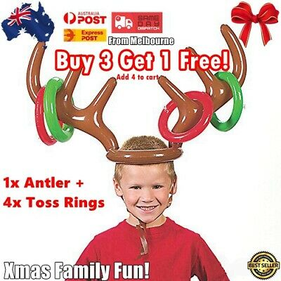 AU Inflatable Reindeer Antler Ring Toss Game Christmas Holiday Party Game AU