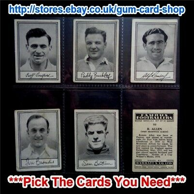 Barratt & Co - Famous Footballers 1954 - A.2 (G/F) *Pick The Cards You Need*
