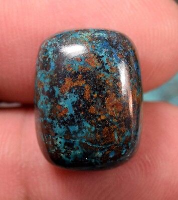 Cute  Chrysocolla ! 23.30 Cts. 100 % Natural Cushion Cab For Silver Jewelry