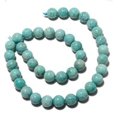 Natural Amazonite Gemstone 11mm Round Bead 7.5 Inch Half Strand 19 Pieces MM24/3