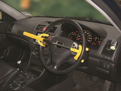Steering Wheel Lock Double Hook Steering Wheel Lock - Yellow