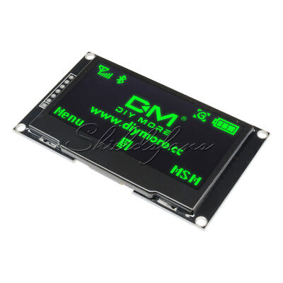 """2.42"""" inch OLED LCD Display SSD1309 128x64 SPI/IIC Serial Port for Arduino Green"""