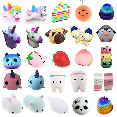 Jumbo Squishies Stress Scented Charms Kawaii Squishy Squeeze Slow Rising Toys AU