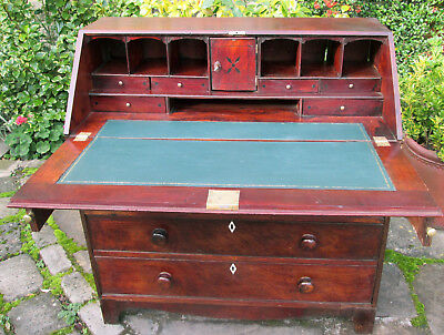 Antique Mahogany George 111 Oak bureau Desk Writing Table