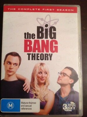 THE BIG BANG THEORY The Complete First Season New Unsealed 3 DVDs R4