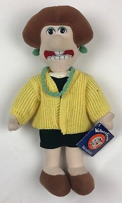Wallace & Gromit Wendolene Doll Collectible New With Tags Plush