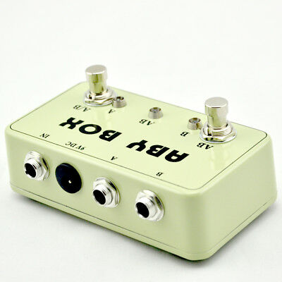 new hand made aby switch box for effects pedal true bypass amp guitar ab h picclick ca. Black Bedroom Furniture Sets. Home Design Ideas