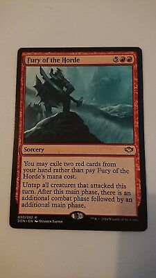 1x FURY OF THE HORDE - Rare - Duel Deck MTG - NM - Magic the Gathering