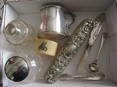 Mixed Lot of Silver, EPNS & White Metal Items
