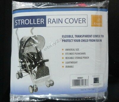 Universal Buggy Pushchair Transparent Rain Cover Baby Stroller Pram